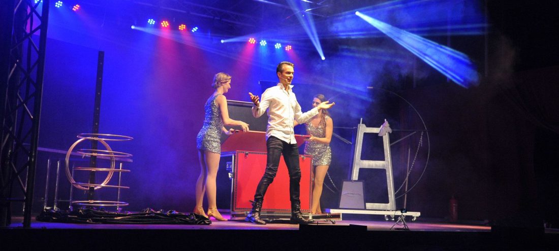 magic show on stage